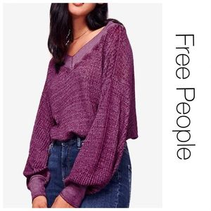 Free People V-neck Purple Thermal M